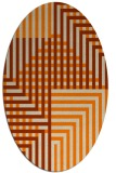 rug #1295963 | oval beige stripes rug