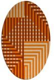 rug #1295964 | oval check rug