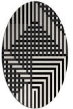 rug #1295968 | oval stripes rug