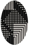 rug #1295969 | oval stripes rug