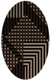 rug #1295975 | oval black graphic rug