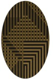 rug #1295983 | oval mid-brown stripes rug