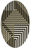 rug #1295987 | oval black stripes rug