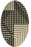rug #1295989 | oval check rug