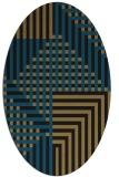 rug #1295991   oval black graphic rug