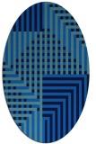 rug #1295995 | oval blue check rug