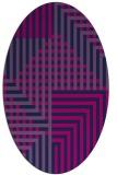 rug #1295999 | oval blue check rug