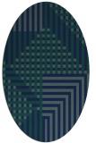 rug #1296003 | oval check rug
