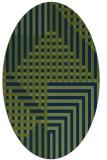 rug #1296007 | oval blue rug