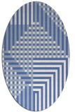 rug #1296011 | oval blue graphic rug
