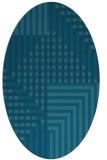 rug #1296018 | oval check rug