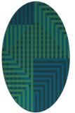 rug #1296027   oval blue check rug