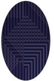 rug #1296047 | oval blue-violet check rug