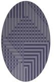 rug #1296051 | oval blue-violet check rug