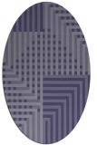rug #1296053 | oval check rug