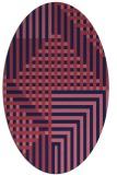 rug #1296055 | oval blue-violet check rug