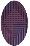 rug #1296059 | oval blue-violet check rug