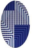 rug #1296063 | oval blue-violet check rug