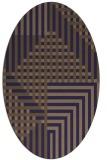 rug #1296067 | oval blue-violet check rug