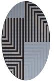 rug #1296071 | oval blue-violet check rug