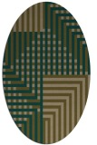 rug #1296075 | oval brown retro rug