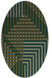 rug #1296077 | oval check rug