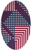 rug #1296079 | oval red check rug
