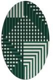 rug #1296099 | oval check rug