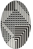 rug #1296111 | oval black graphic rug