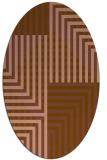 rug #1296115 | oval brown retro rug