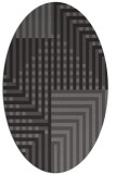 rug #1296119 | oval brown retro rug