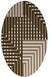 rug #1296123 | oval beige check rug