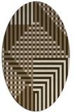 rug #1296125 | oval check rug