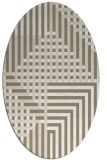 rug #1296127 | oval white check rug
