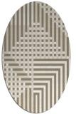 rug #1296127 | oval check rug
