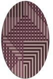 rug #1296131   oval pink retro rug