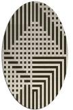 rug #1296150 | oval check rug