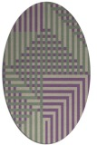 rug #1296151 | oval purple graphic rug
