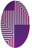rug #1296166 | oval stripes rug