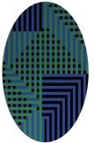 rug #1296167 | oval stripes rug