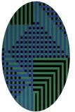 rug #1296169 | oval check rug