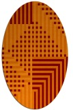 rug #1296175 | oval red-orange check rug