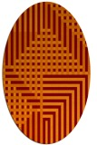 rug #1296178 | oval graphic rug