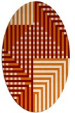 rug #1296179 | oval orange check rug