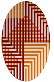 rug #1296180 | oval check rug