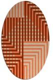 rug #1296183 | oval orange check rug