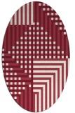 rug #1296197 | oval stripes rug