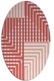 rug #1296203 | oval white check rug