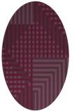 rug #1296207 | oval purple check rug