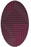 rug #1296210 | oval check rug
